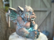Gable Gargoyles small cement bronze garden gargoyles